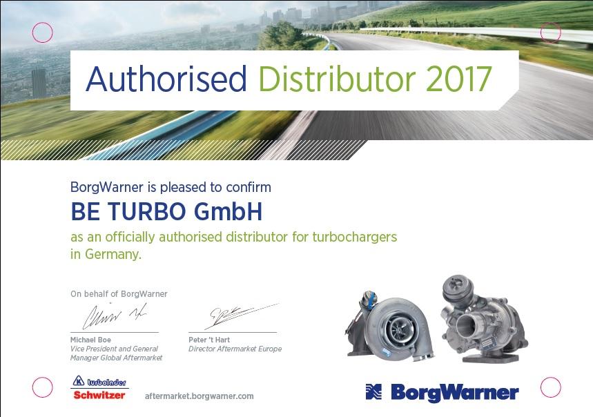 BE TURBO, autorisierter Distributor von BorgWarner